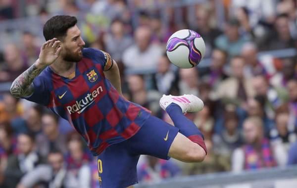 Barcelona forward Lionel Messi in eFootball PES 2020 aka Konami's Pro Evolution Soccer.