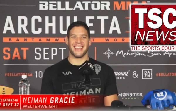 Bellator MMA welterweight Neiman Gracie. Post-Fight Bellator 246: Archuleta vs. Mix.