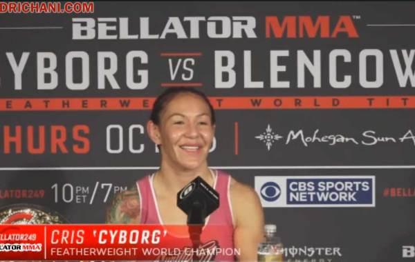 Bellator featherweight champion Cris Cyborg. Courtesy of Bellator MMA.