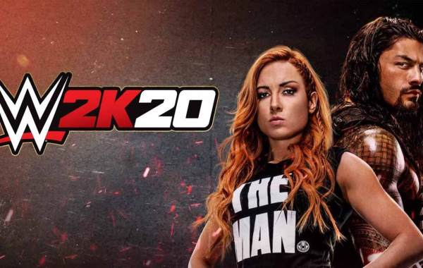 WWE 2K20 Cover with Becky Lynch and Roman Reigns