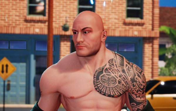 Dwayne The Rock Johnson in WWE 2K Battlegrounds.