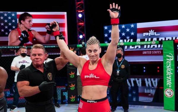 PFL MMA fighter Kayla Harrison. Courtesy of Professional Fighters League.