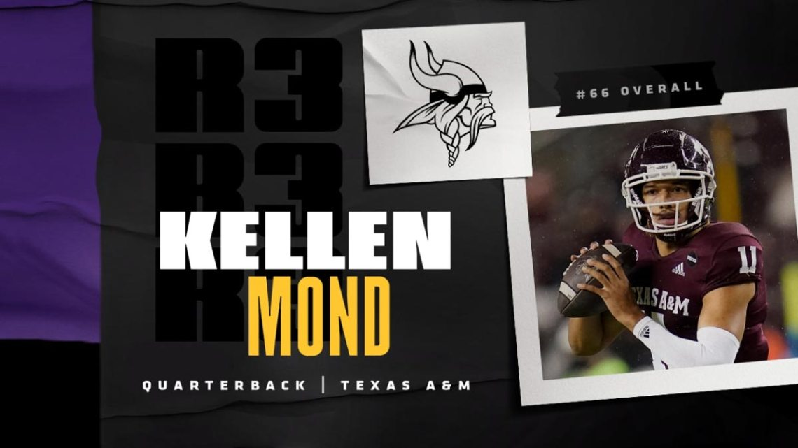 Minnesota Vikings quarterback Kellen Mond. Courtesy of Vikings.