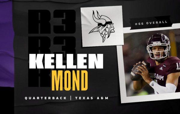 Minnesota Vikings quarterback Kellen Mond. Courtesy of Vikings.
