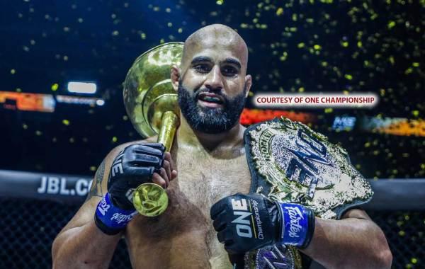 ONE Championship heavyweight champion Arjan Bhullar. Courtesy of ONE Championship.