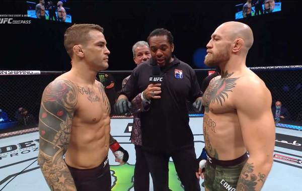 Dustin Poirier vs. Conor McGregor. Courtesy of UFC.