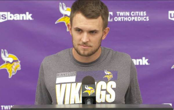 Minnesota Vikings quarterback Jake Browning. Courtesy of Vikings.