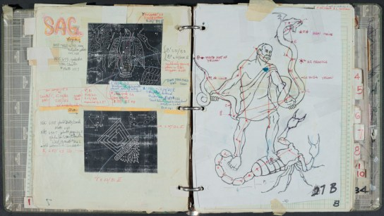 "Research / preparatory notebooks for ""The Zodiac...By God!"""