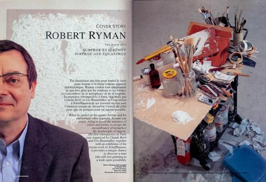 Robert Ryman, Galleries Magazine; 1992