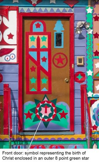 Isaiah Robertson; Front Door_Birth of Christ Symbol, 2010