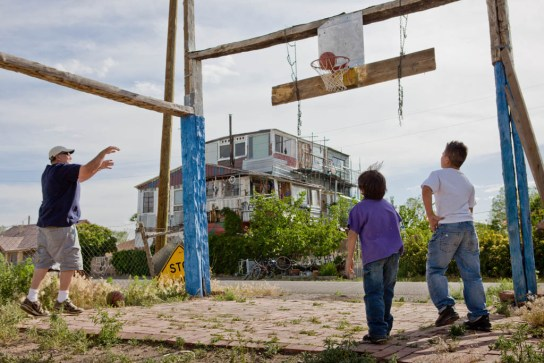 Dominic Espinoza's Basketball Court and House; Antonito, CO 2012