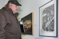 Frank Novel at Erie (Pennsylvania) Art Museum Opening; 2012