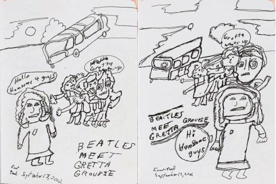 Frank Novel sketchbook pages reproduction