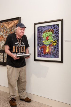 Frank Novel attends the Erie Art Museum Spring Show opening (b)