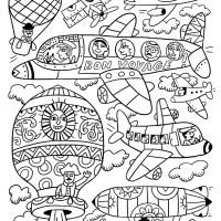Voyage en coloriage 2 : dans les airs