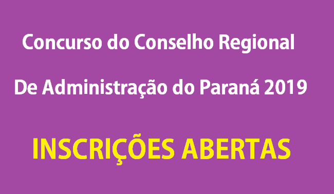 Concurso do Conselho Regional de Administração do Paraná (CRA-PR)