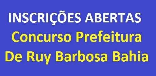 concurso da prefeitura de Ruy Barbosa Bahia
