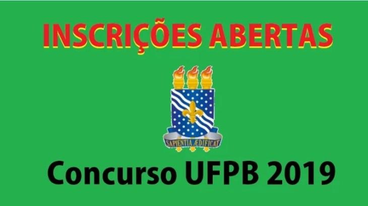 Inscrições para o concurso da UFPB