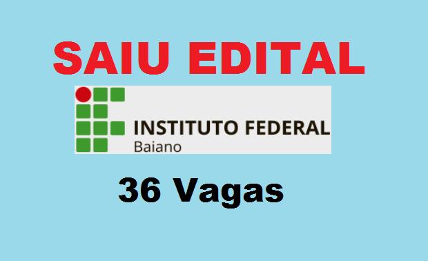 IF Baiano Edital