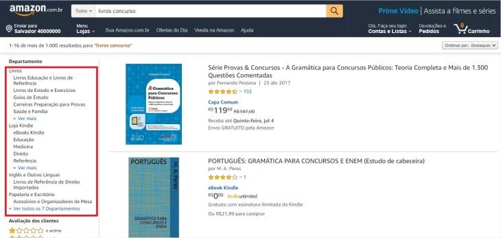 Como comprar livros na amazon brasil