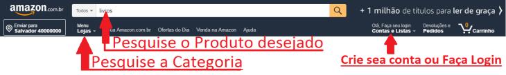 Como comprar na amazon brasil