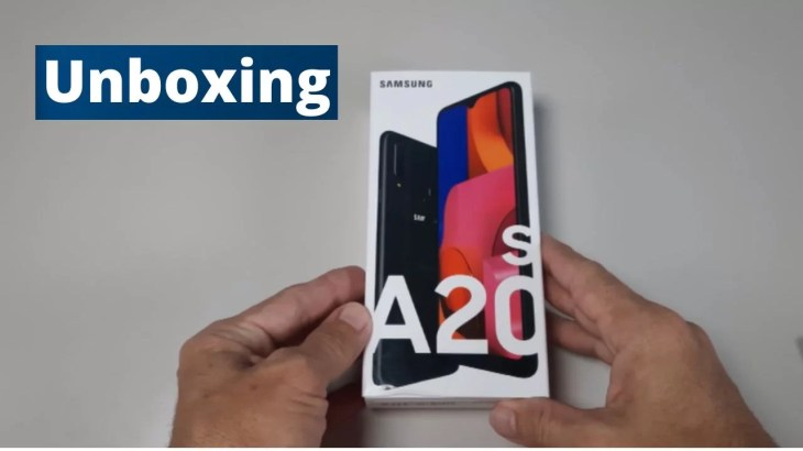 Galaxy A20s Unboxing
