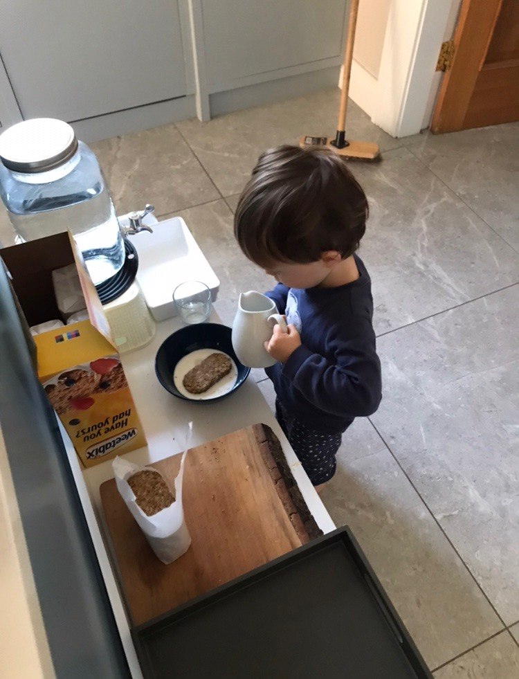 Montessori Toddler Kitchen - snacks for toddlers
