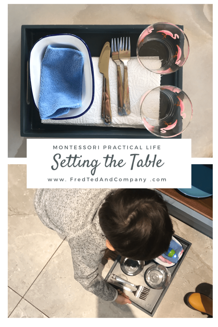 Montessori Practical Life for a 3 Year Old. Setting the Table