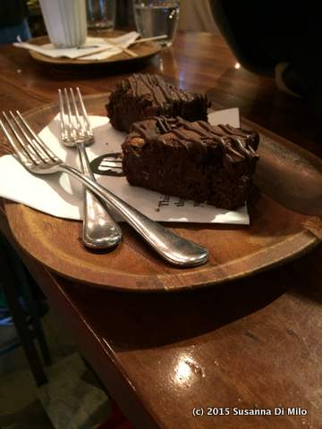 Chocolate Brownies at the Chocolate Restaurant