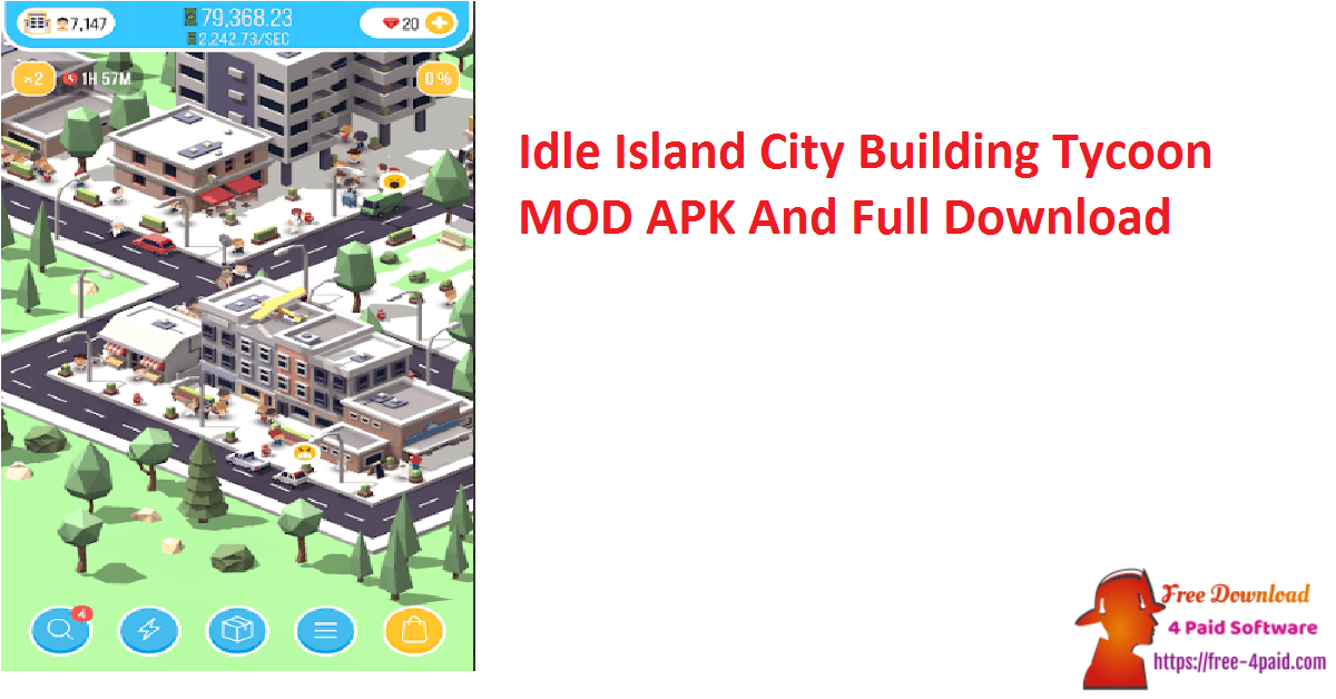 Idle Island City Building Tycoon MOD APK And Full Download
