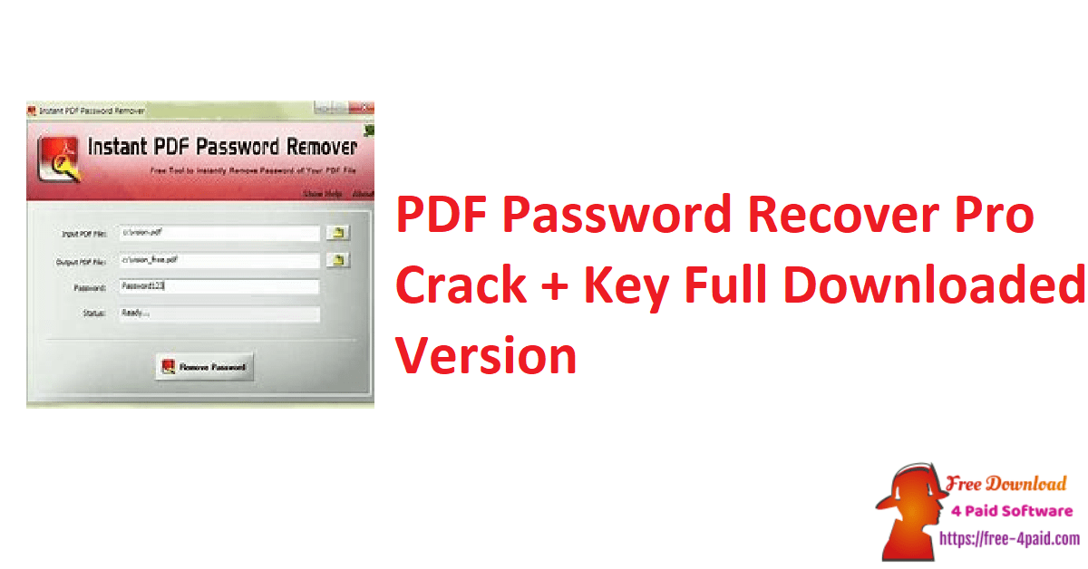 PDF Password Recover Pro Crack + Key Full Downloaded Version