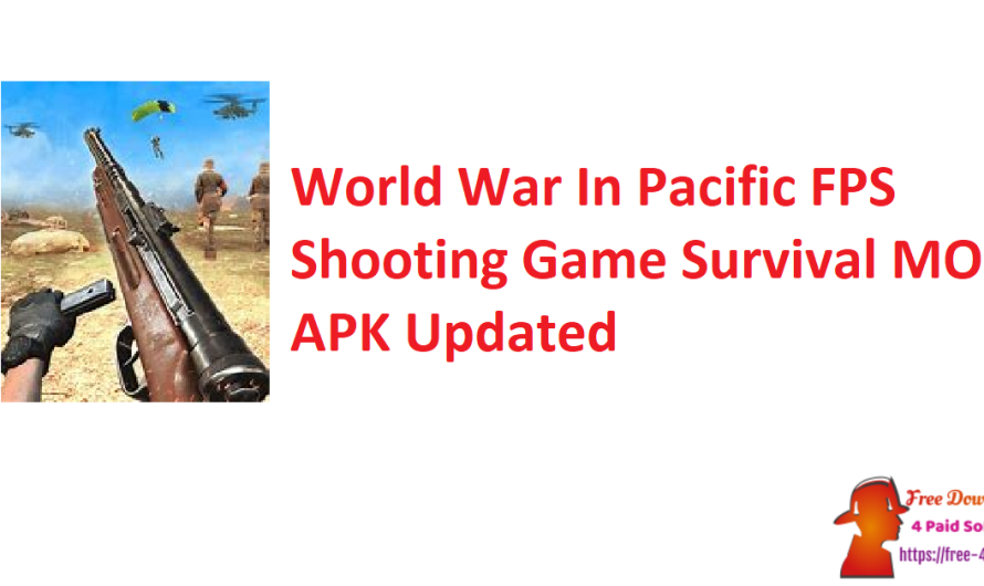 World War In Pacific FPS Shooting Game Survival V3.3 MOD APK [Updated]
