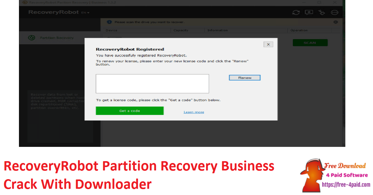 RecoveryRobot Partition Recovery Business Crack With Downloader