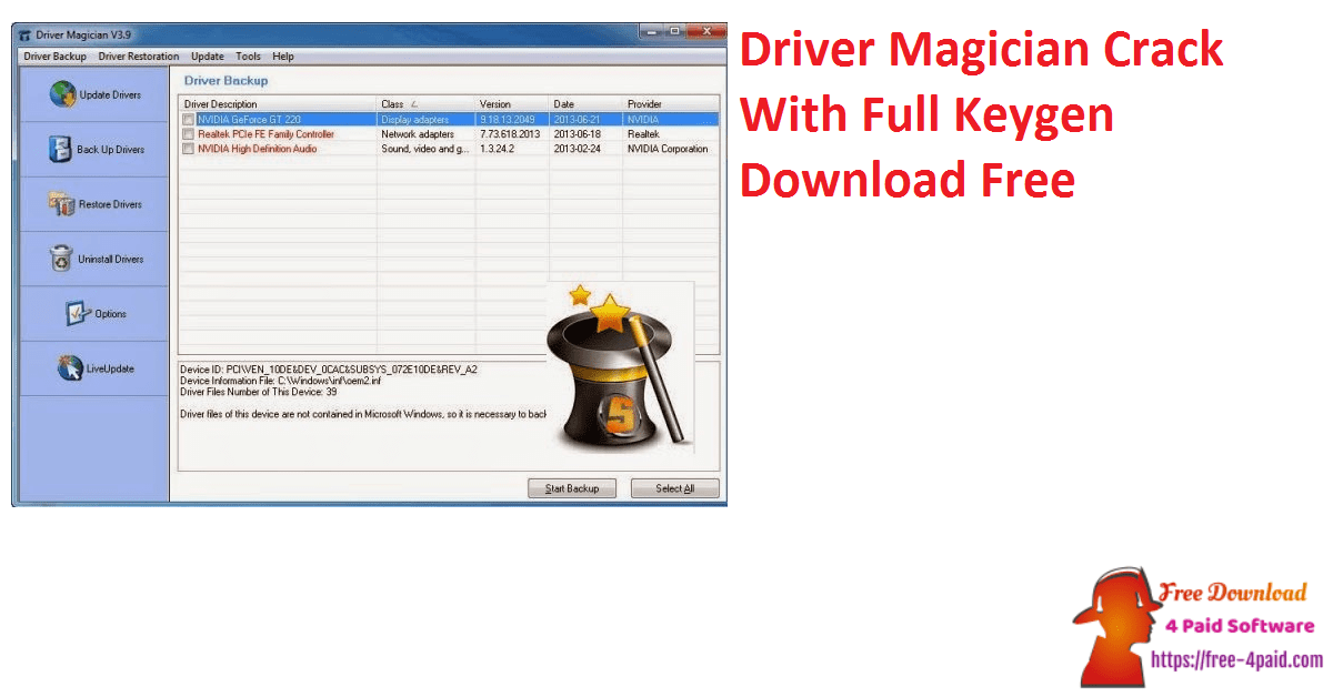 Driver Magician Crack With Full Keygen Download Free
