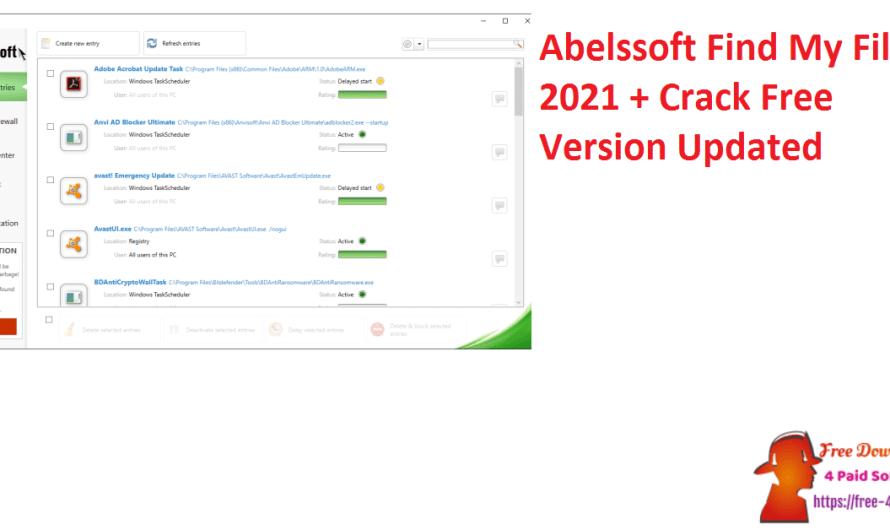 Abelssoft Find My Files 2021 4.0.18 + Crack Free Version [Updated]