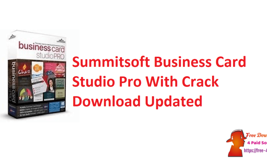 Summitsoft Business Card Studio Pro 6.0.4 With Crack Download [Updated]