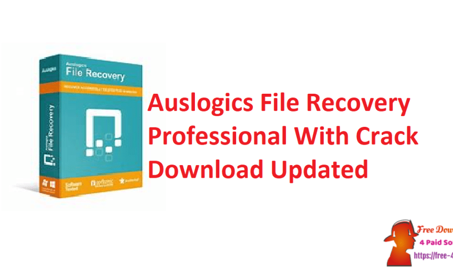 Auslogics File Recovery Professional 10.2.0.0 With Crack Download [Updated]
