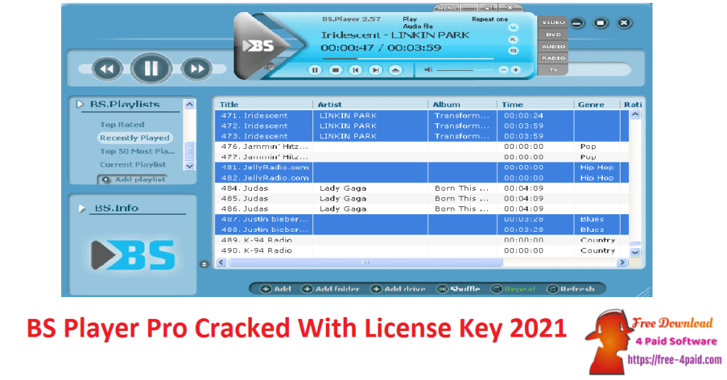 BS Player Pro Cracked With License Key 2021