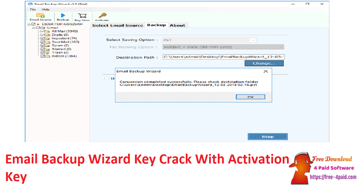 Email Backup Wizard Key Crack With Activation Key