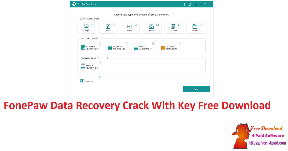 FonePaw Data Recovery Crack With Key Free Download