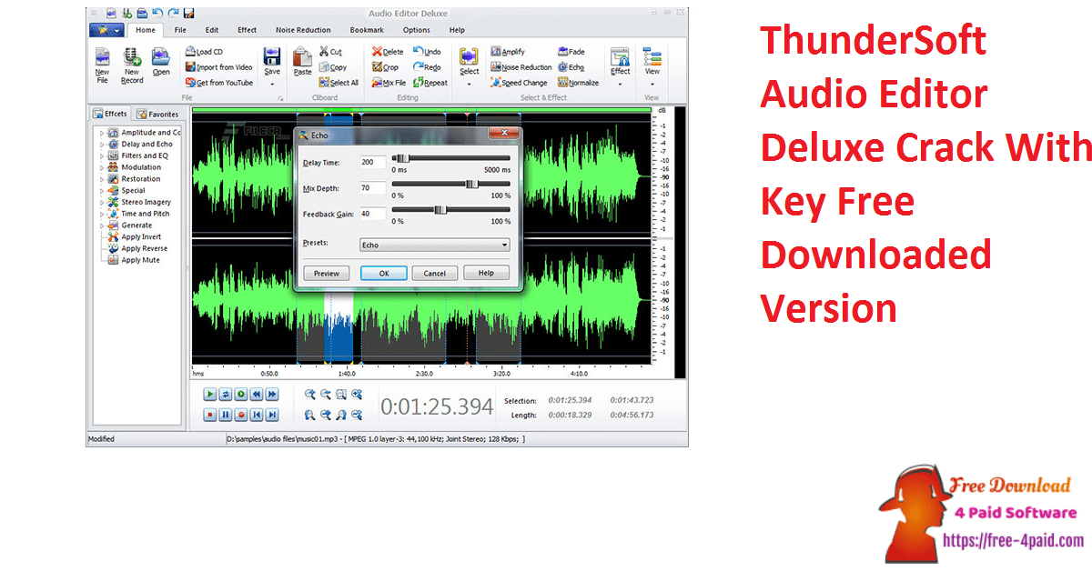 ThunderSoft Audio Editor Deluxe Crack With Key Free Downloaded Version