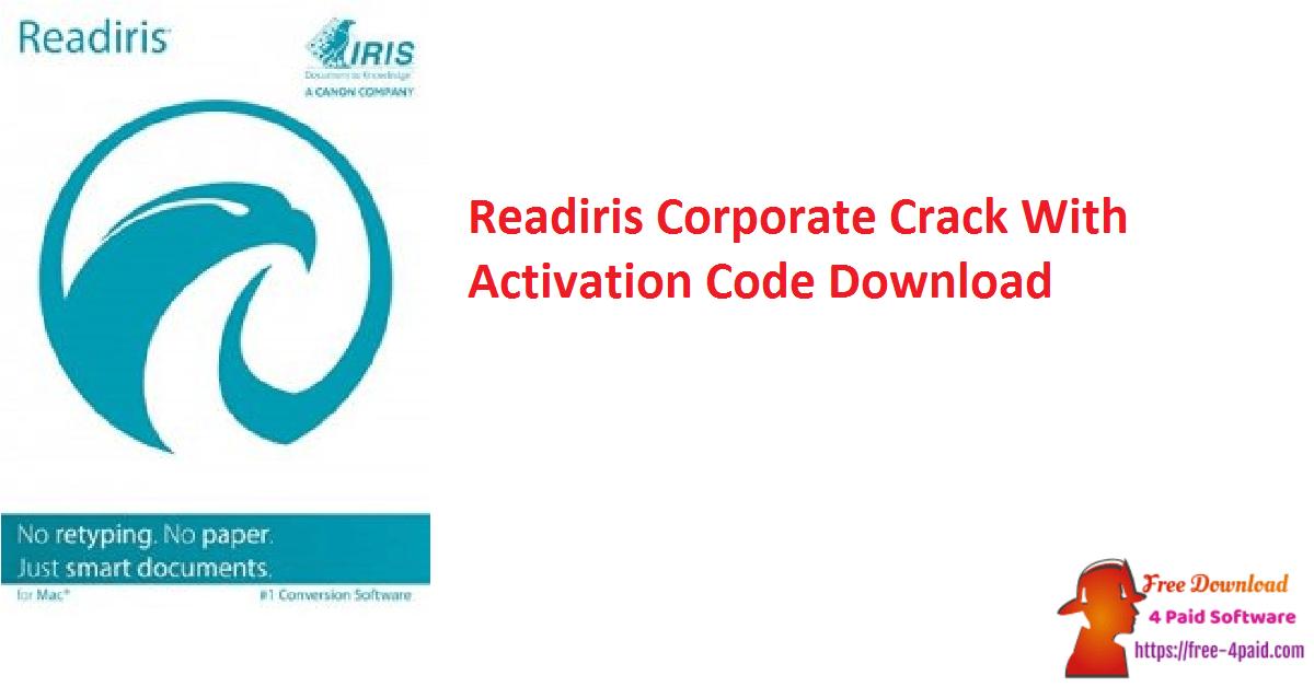 Readiris Corporate Crack With Activation Code Download