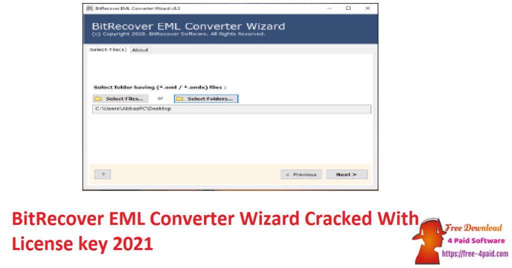 BitRecover EML Converter Wizard Cracked With License key 2021