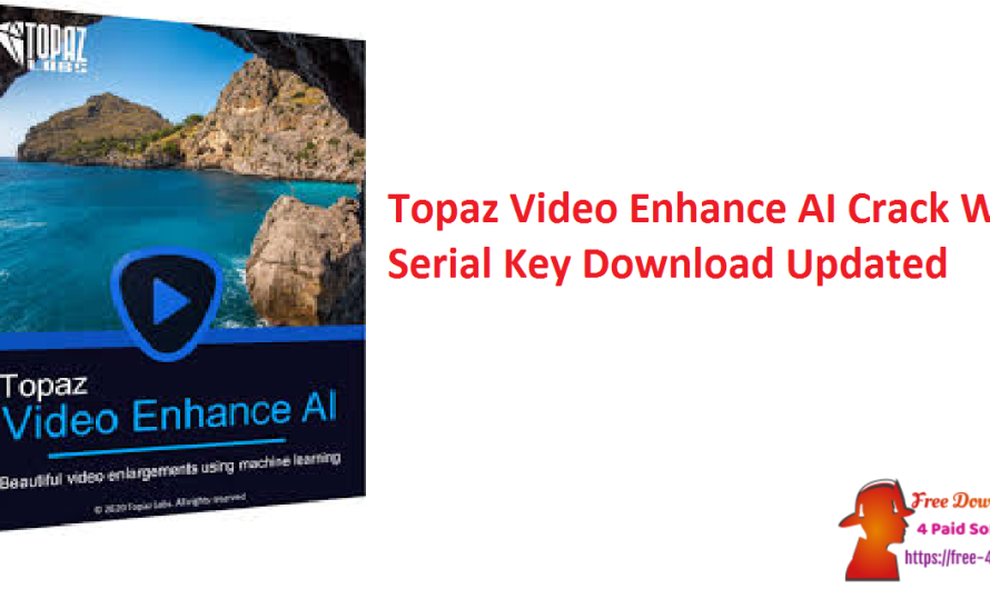 Topaz Video Enhance AI 2.4.1 With Crack Serial Key Download [Updated]