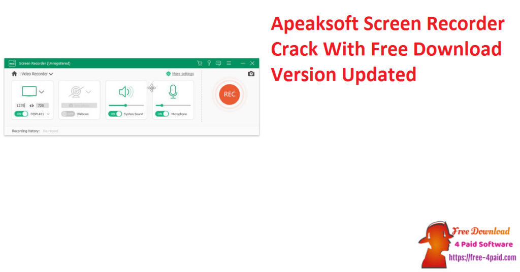 Apeaksoft Screen Recorder Crack With Free Download Version Updated