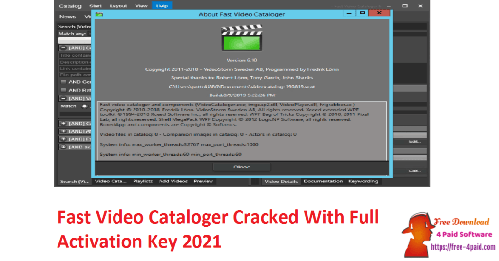 Fast Video Cataloger Cracked With Full Activation Key 2021