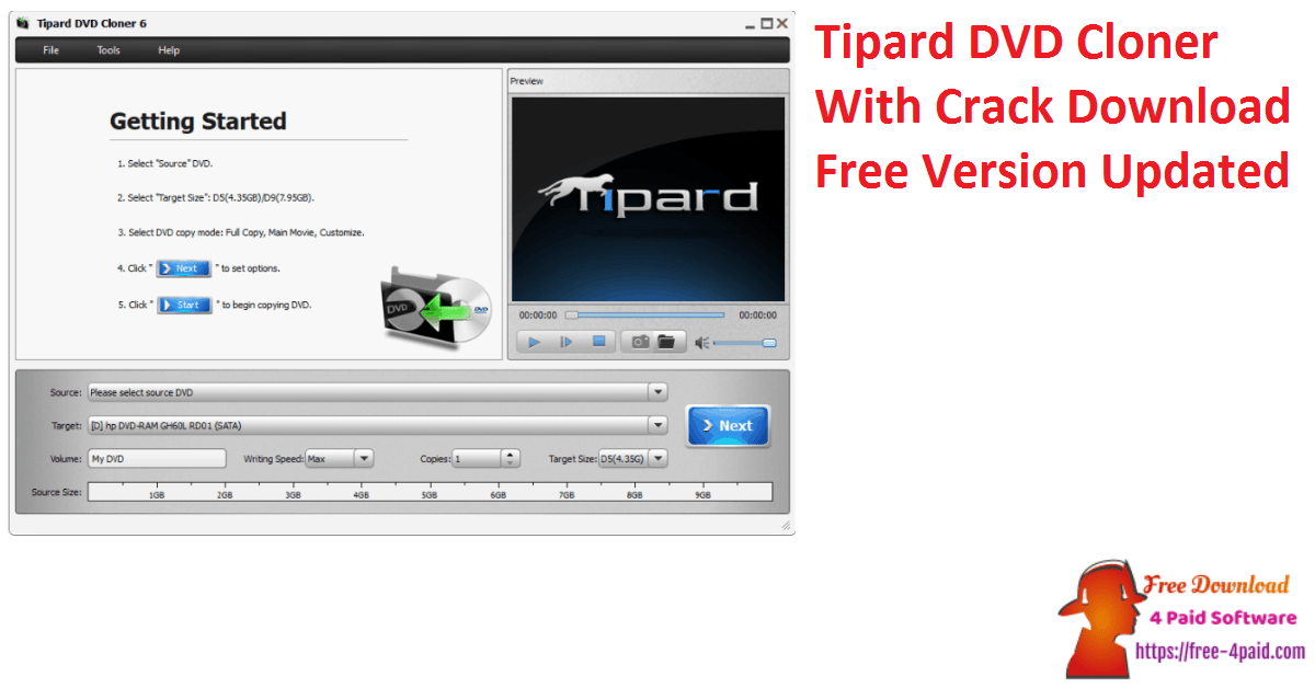 Tipard DVD Cloner With Crack Download Free Version Updated