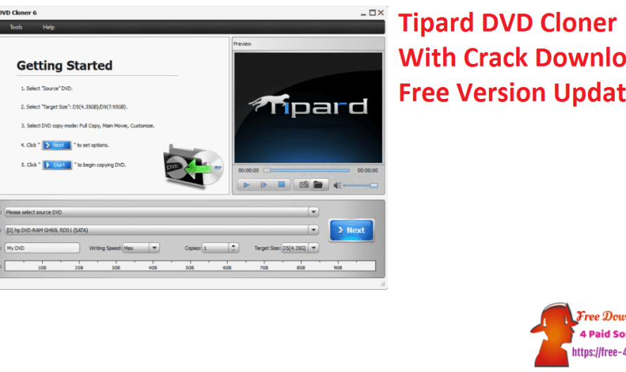 Tipard DVD Cloner 7.2.9 With Crack Download Free Version [Updated]