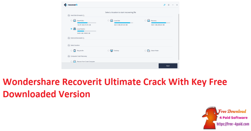 Wondershare Recoverit Ultimate Crack With Key Free Downloaded Version