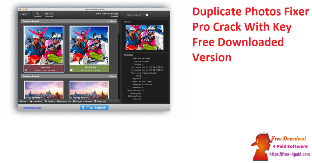 Duplicate Photos Fixer Pro Crack With Key Free Downloaded Version
